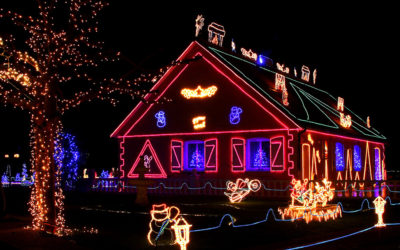 Solar lights make your holiday merry and bright