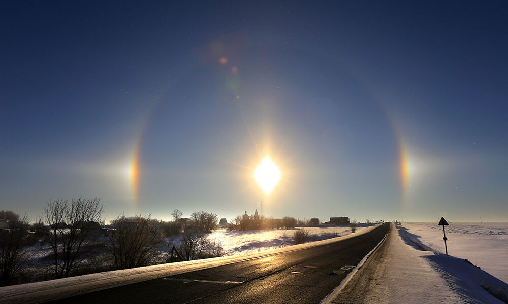 solar halo during winter