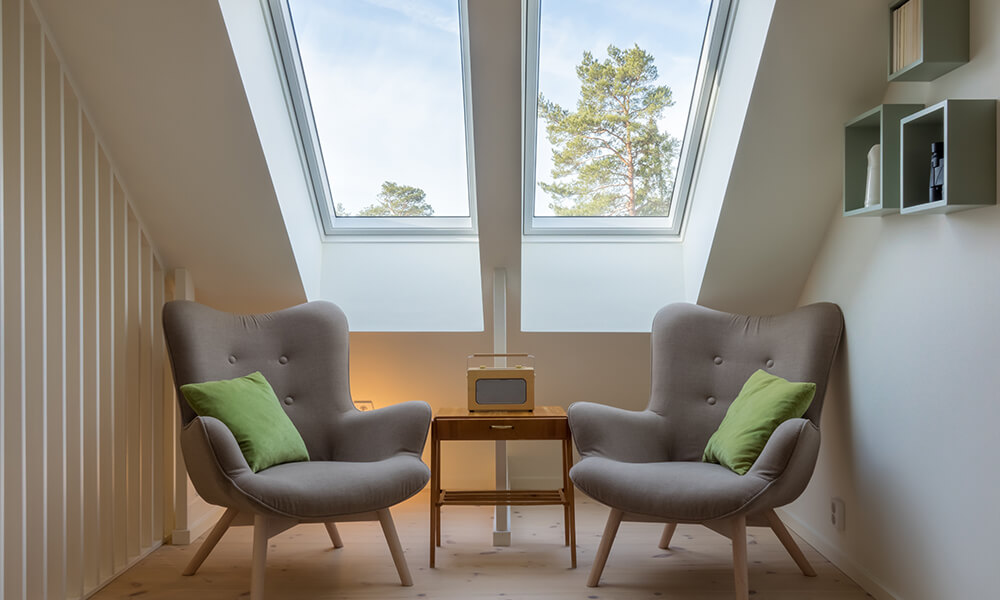 skylights in a home, allowing the residents to enjoy the sun