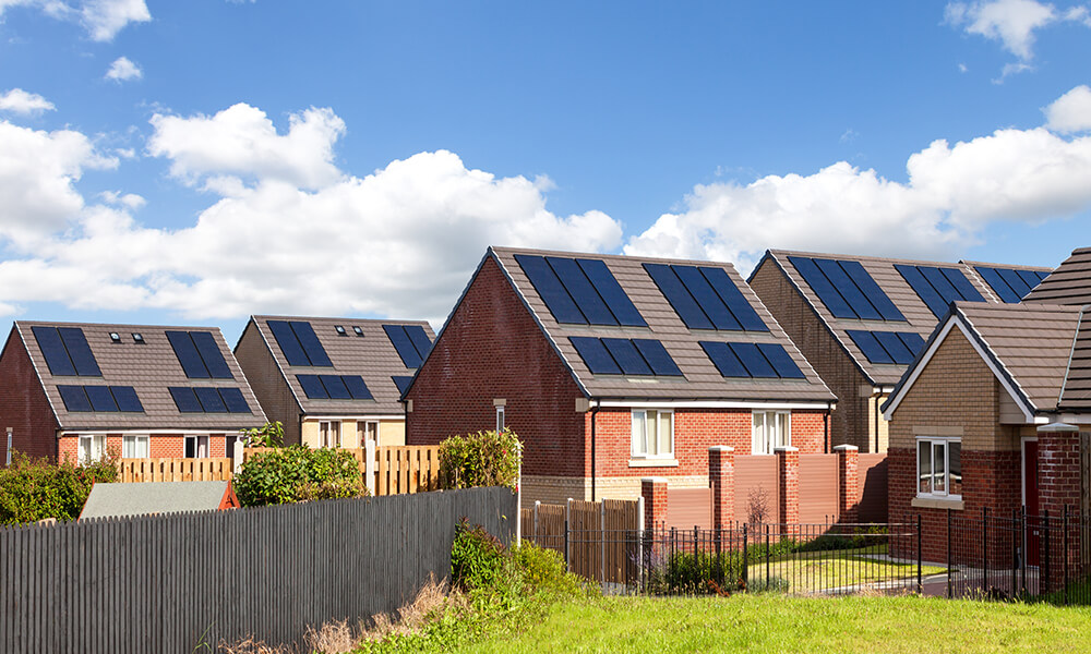 european homes with solar panels, possible victims of a solar scam